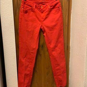 Kate Spade Red Brooke Street Straight Leg Jeans 30